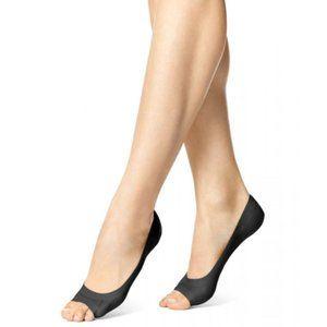 NWT Hue 3 pair Peep Toe Perfect Edge Liners Black